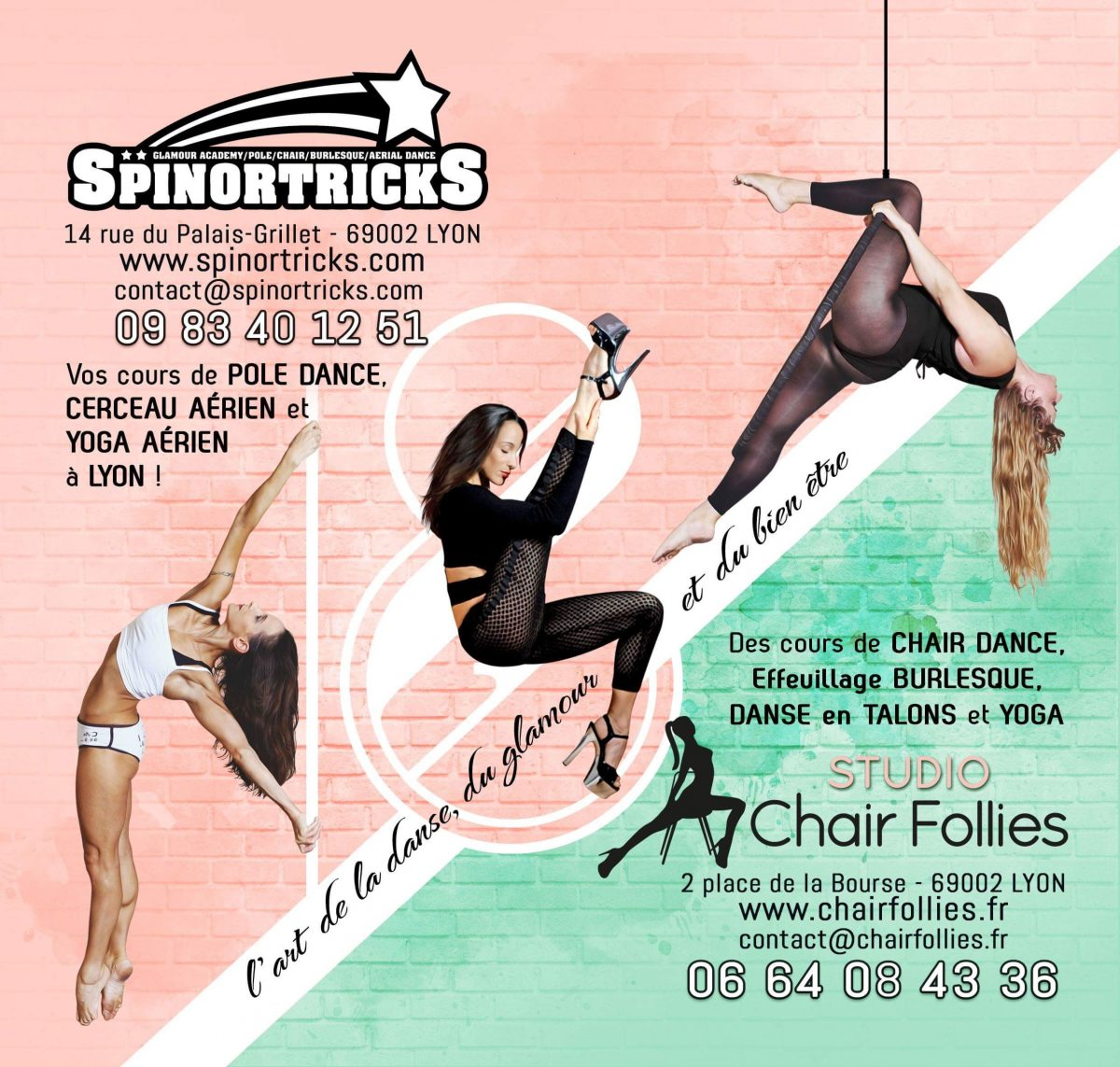 Affiche cours Chair Follies / Spin or Tricks